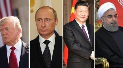 U.S. President Trump (Ph, Russian President Vladamir Putin (Photo: Kremlin.ru), Chinese President Xi Jinping (Photo: Kremlin.ru), President of Iran Hassan Rouhani (Photo: Kremlin.ru)