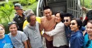 Pai and his family outside Khon Kaen jail. (Photo: Thai Lawyers for Human Rights)