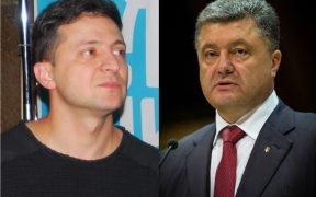 Volodymyr Zelensky vs. Petro Poroshenko
