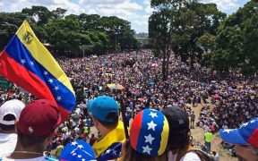 Millions of Venezuelans marching on 20 May 2017 during the We Are Millions march.