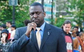 Yusef Salaam of the Central Park Five - speaking at a rally for Troy Davis. Union Square, New York City.