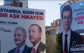 Posters for Binali Yıldırım and Ekrem İmamoğlu