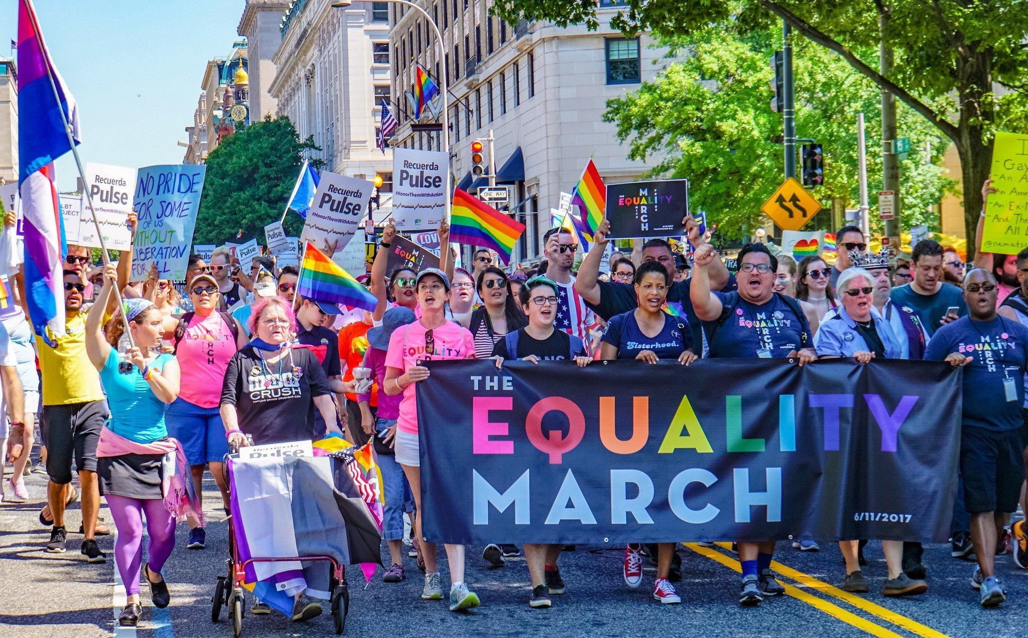 En junio, 11, 2017, la Marcha de la Igualdad movilizaron a las comunidades y aliados LGBTQ + para afirmar y proteger los derechos, la seguridad y la humanidad completa de LGBTQ +. (Foto: Ted Eytan)