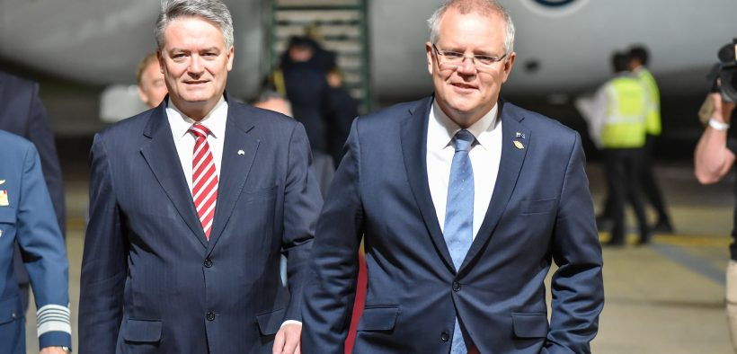 Arrival of Scott Morrison (right), Prime Minister of Australia at G20, November 2018. (Photo: G20 Argentina)