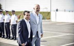 Zoran Zaev with Edi Rama during a meeting of Balkan leaders held in Durres