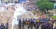 Hong Kong protests. (YouTube screenshot)