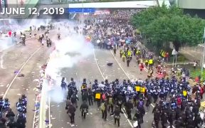 Protestos de Hong Kong. (Captura de tela do YouTube)
