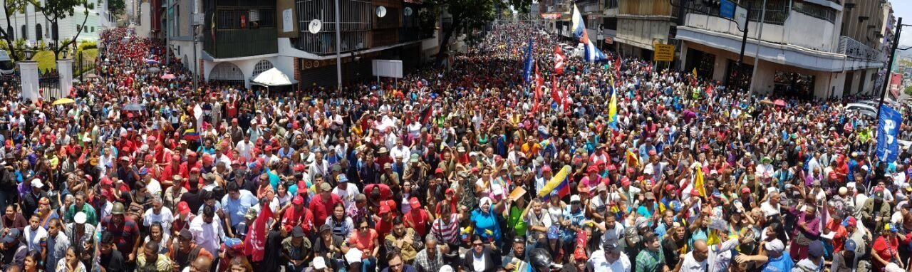Pro Maduro rally in Caracas, Venezuela. (Photo: Orlenys Ortiz)