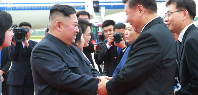 Chinese President Xi Jinping and North Korean leader Kim Jong-Un meet in Pyongyang, North Korea. (Photo: Korean Central News Agency)