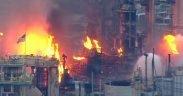 Explosão da refinaria de Filadélfia (foto: captura de tela do YouTube)