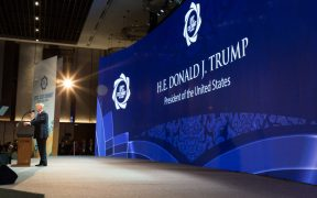 President Donald J. Trump delivers remarks to APEC CEO Summit Friday, November 10, 2017, at Ariyana Da Nang Exhibition Center in Da Nang, Vietnam. (Official White House Photo by Shealah Craighead)