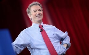 Rand Paul speaking at CPAC 2015 in Washington, DC.