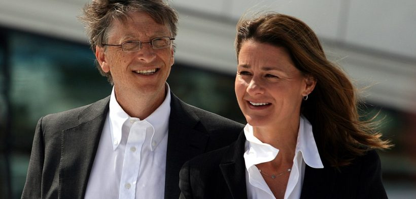 Bill and Melinda Gates during their visit to the Oslo Opera House in June 2009.