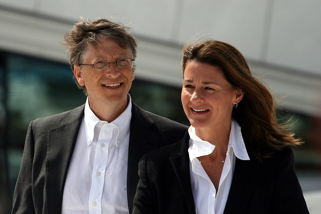 Bill e Melinda Gates durante la loro visita all'Opera House di Oslo in giugno 2009.