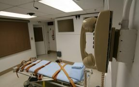 View of the execution chamber in a Florida prison.