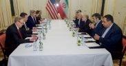 Riunione del team diplomatico americano e iraniano in 2016 (per gentile concessione di Wikimedia Commons)