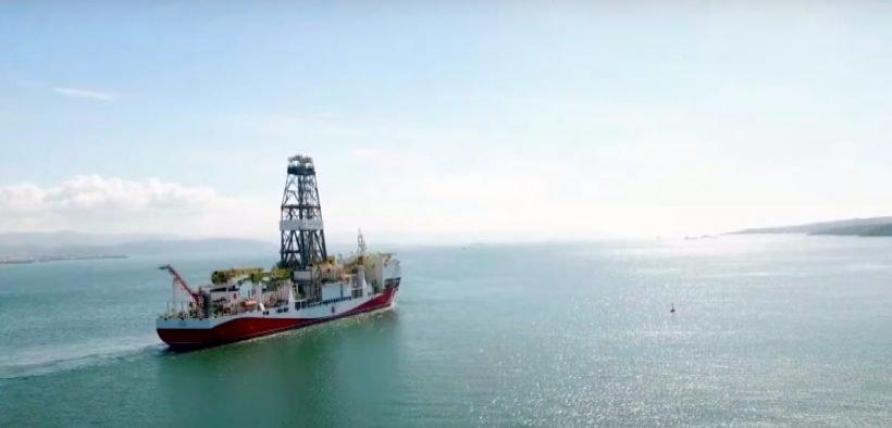 Le navire turc Fatih. (Photo: YouTube)