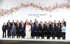 Joint photo session of the heads of delegations from the G20, invited guest countries and international organisations.