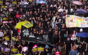हांगकांग विरोध, जुलाई 21, 2019। (फोटो: यूट्यूब)