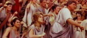 """Sharon Tate in 1961's """"Barabbas""""."""