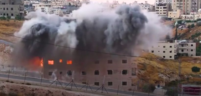 Israel demolished a group of Palestinian homes near a military barrier on the outskirts of Jerusalem on Monday, despite protests and international criticism. (Photo: YouTube)