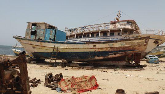The sixteen-meter-long recently released ship of Alhabeel familys. (Photo: Rami Almeghari)