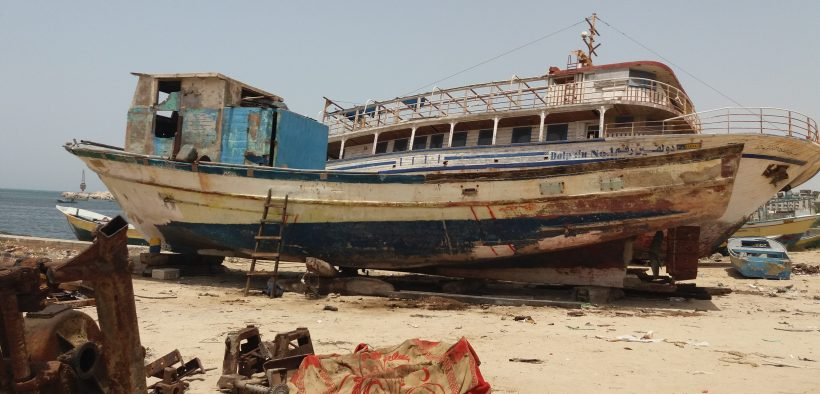 The sixteen-meter-long recently released ship of Alhabeel familys. (Photo: Rami Almeghari)