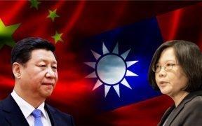 Президент Китая Си Цзиньпин и президент Тайваня Цай Инь-вен (Фото: VOA)
