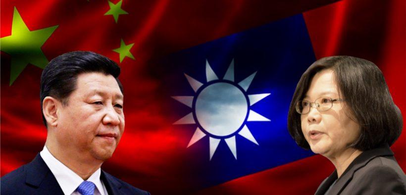 Der chinesische Präsident Xi Jinping und Taiwans Präsident Tsai Ing-wen (Foto: VOA)