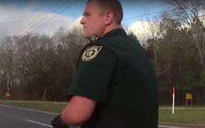 Zach Wester during a traffic stop with Teresa Odom. (Photo: YouTube)
