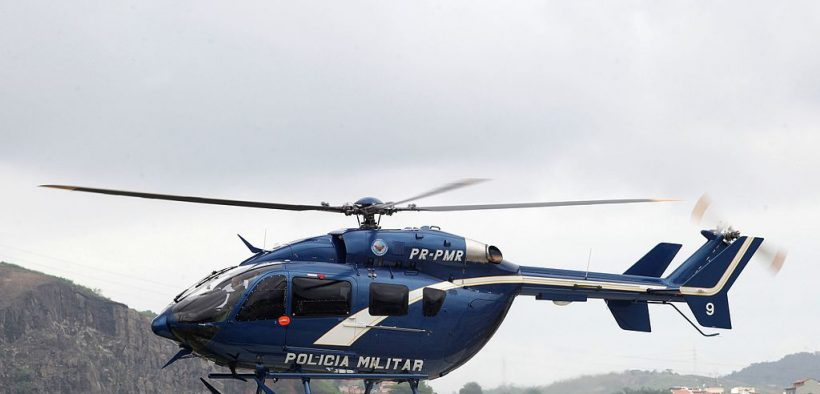 New helicopter of the Aeromóvel Group of the Rio police. Photo from 2015 (Photo: Clarice Castro)