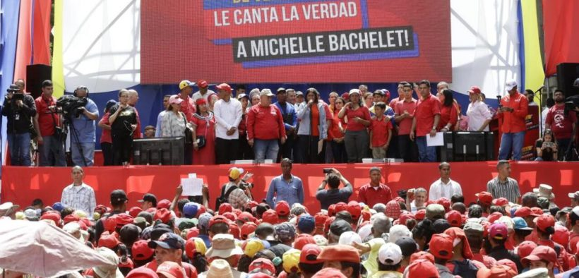 """The people of Venezuela will sing the truth to Michelle Bachelet!!"" Photo: Twitter"