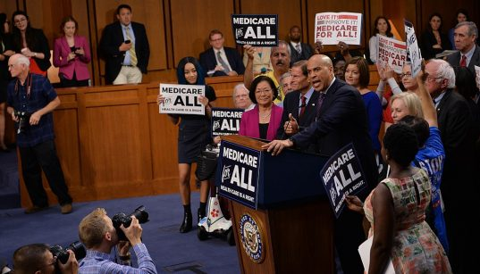 2020 presidential candidate Cory Booker speaking on Medicare for All, September 2017. (Photo: Senate Democrats)