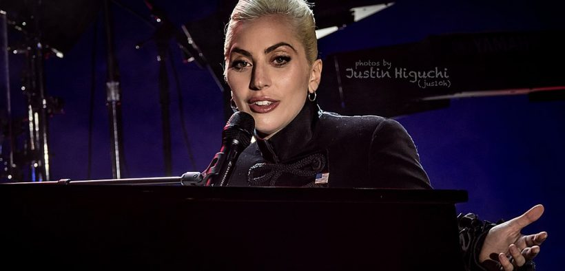 Lady Gaga performing live at the Airbnb Open Spotlight concert in downtown Los Angeles, California, on Saturday, November 19, 2016. Lady Gaga was the surprise secret guest at this concert.