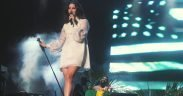 Lana del Rey in concert at Planeta Terra, November 2013.