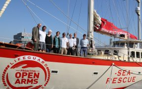 The Open Arms migrant rescue boat run by Spanish charity Proactiva. (Photo: Ajuntament Barcelona)