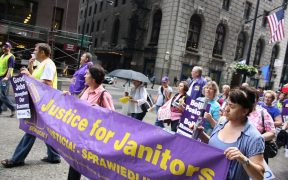 Justice for Janitors Anniversary Rally