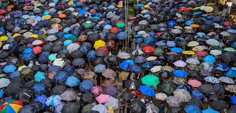 Hong Kong protests against extradition bill. Date: August, 18, 2019.
