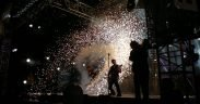 Rammstein在演唱会May,2011。 位置未知。 (照片:Al Pavangkanan)