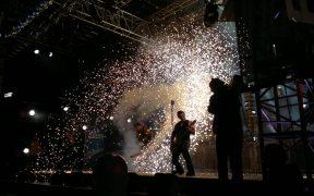 Rammstein in concert May, 2011. Location unknown. (Photo: Al Pavangkanan)
