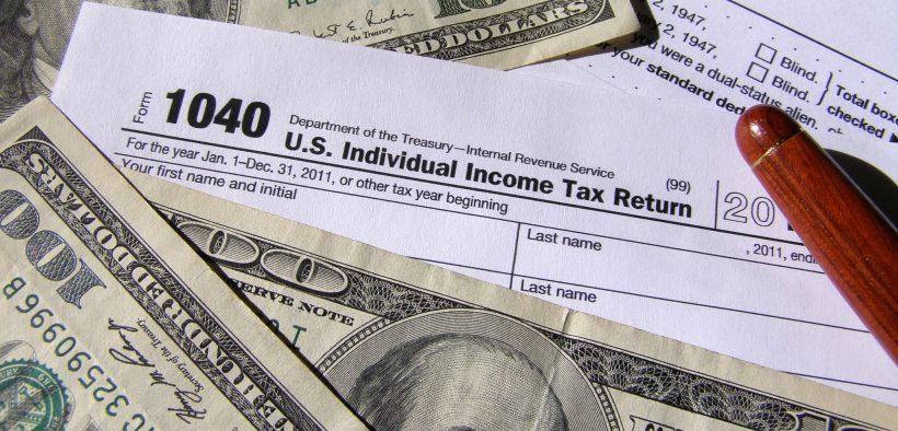 US tax return and money