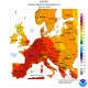 Extreme Maximum Temperature in Europe (°C) on 24 July 2019; computer generated contours, based on preliminary data. National Oceanic and Atmospheric Administration (NOAA)