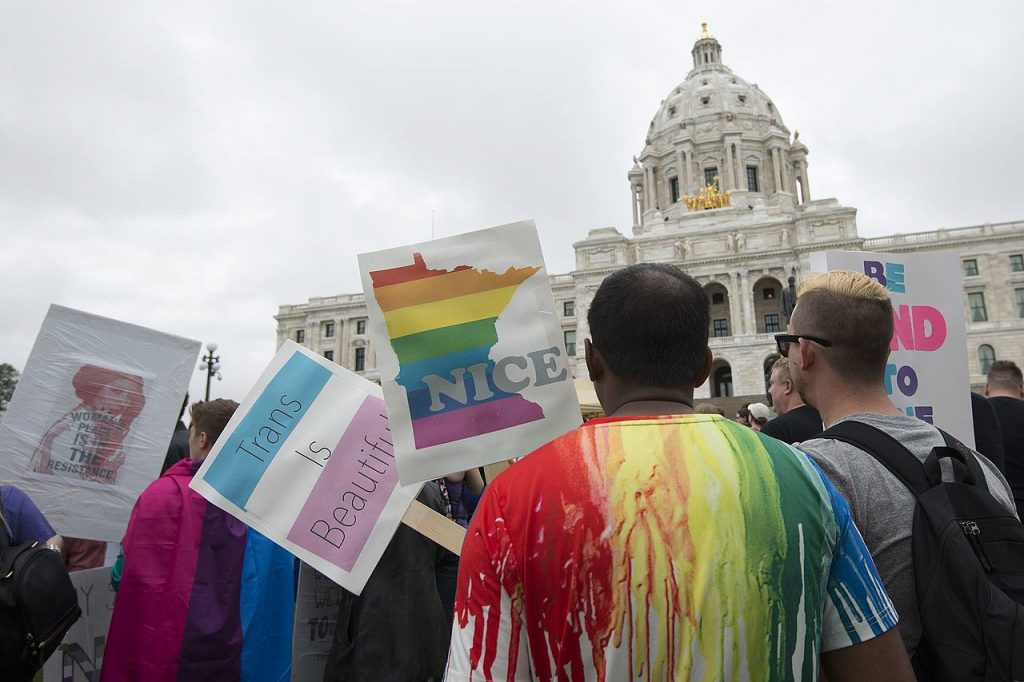 Equality March in Washington D.C. Date: 11 June 2017, 11:12 Source: Equality March for Unity and Pride at the Minnesota capitol. (Photo: Fibonacci Blue from Minnesota, USA)