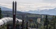 خط أنابيب النفط في المناطق الداخلية من ألاسكا. التاريخ: 25 يوليو 2018. (الصورة: جيلفوتو)