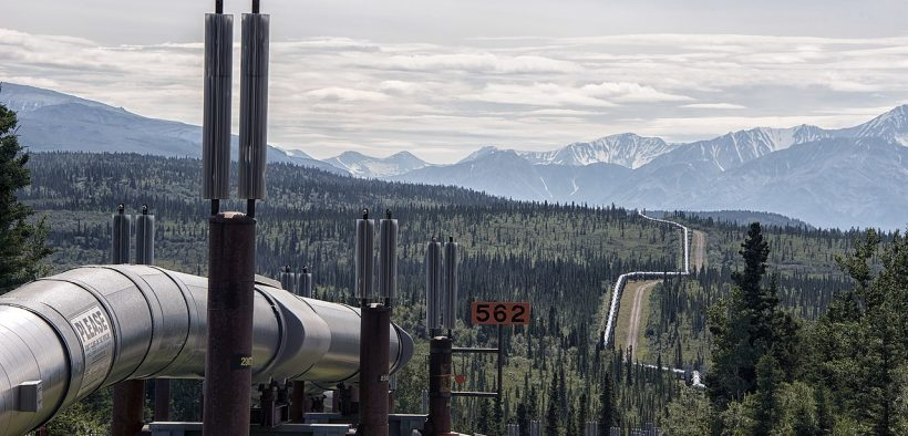 The Oil Pipeline in the interior of Alaska. Date: 25 July 2018. (Photo: Gillfoto)