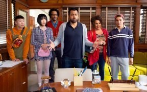 "Star and co-writer Kal Penn and cast in the NBC new series ""Sunnyside."" (Photo: NBC TV)"
