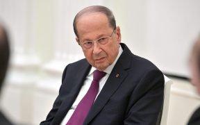 Presidente della Repubblica libanese Michel Aoun.