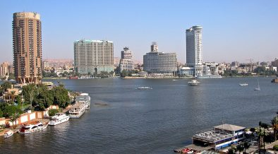 Вид на реку Нил и Каир, Египет