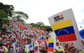 Thousands marched in Caracas, Venezuela on August 10 against the latest Executive Order issued by the Trump administration against Venezuela. Photo: Twitter