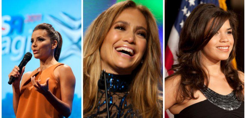 Eva Longoria, Imagine Cup 2011. (Photo: Imagine Cup). Jennifer Lopez, 25th Annual GLAAD Media Awards, 2014. (Photo: DVSROSS). America Ferrera, 2010 Voice Awards. (Photo: SAMHSA)